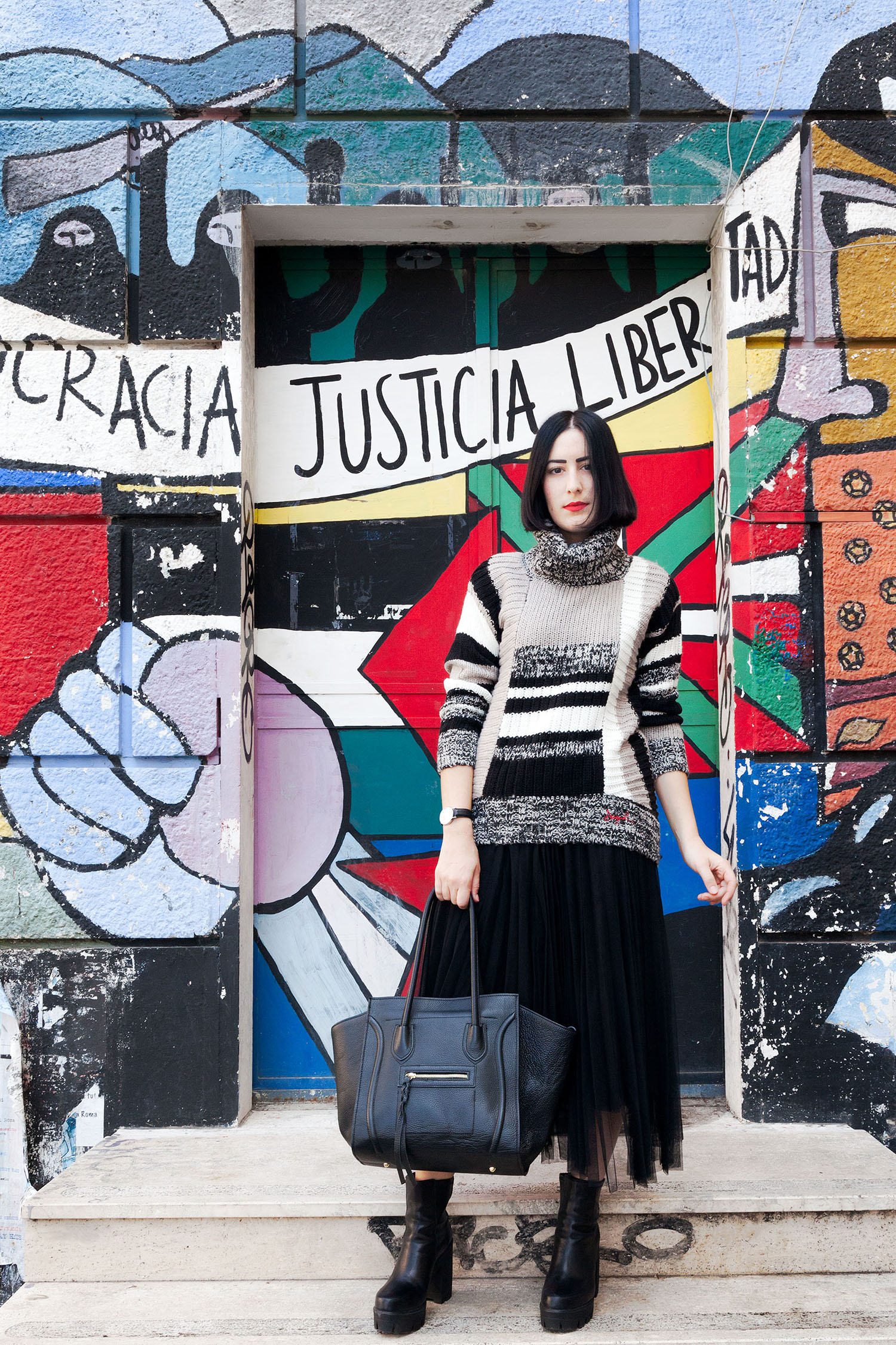outfit-stile-urban-maglione-desigual-gonna-tulle-4