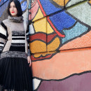 outfit urban maglione desigual gonna tulle
