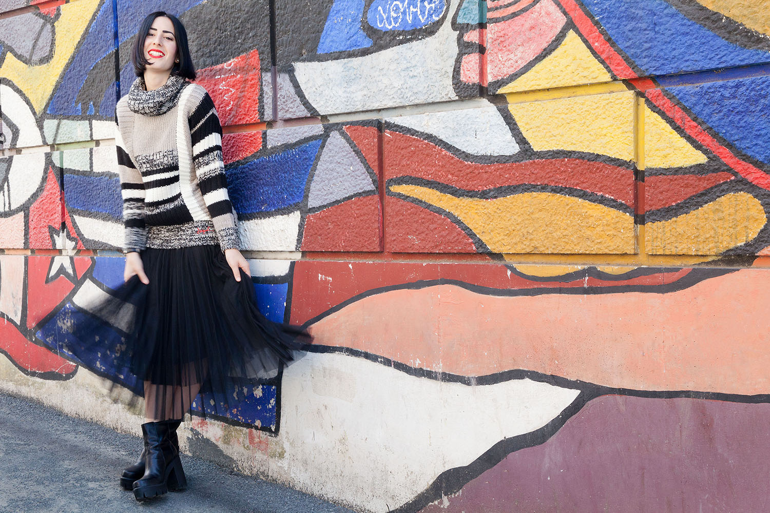 outfit-stile-urban-maglione-desigual-gonna-tulle-8
