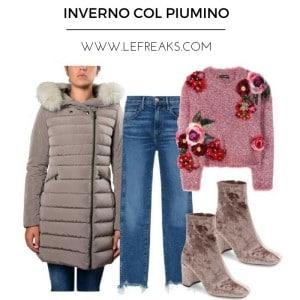 piumino inverno idee outfit abbinamento