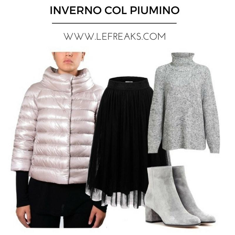 outfit invernali con il piumino