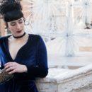 vestito velluto blu capodanno