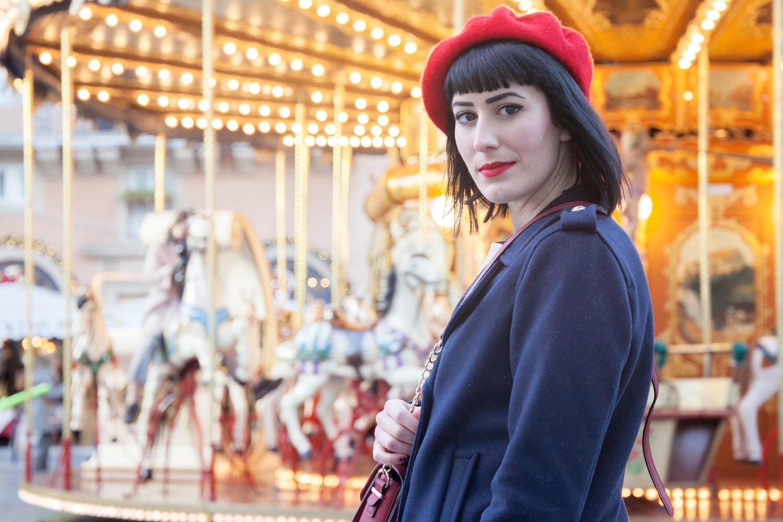 outfit stile parigino piazza navona roma