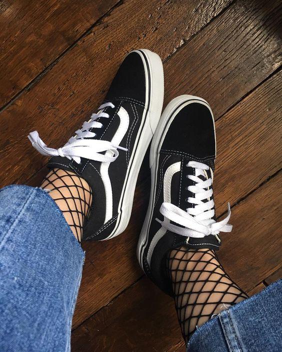 vans e calze alte moda uomo
