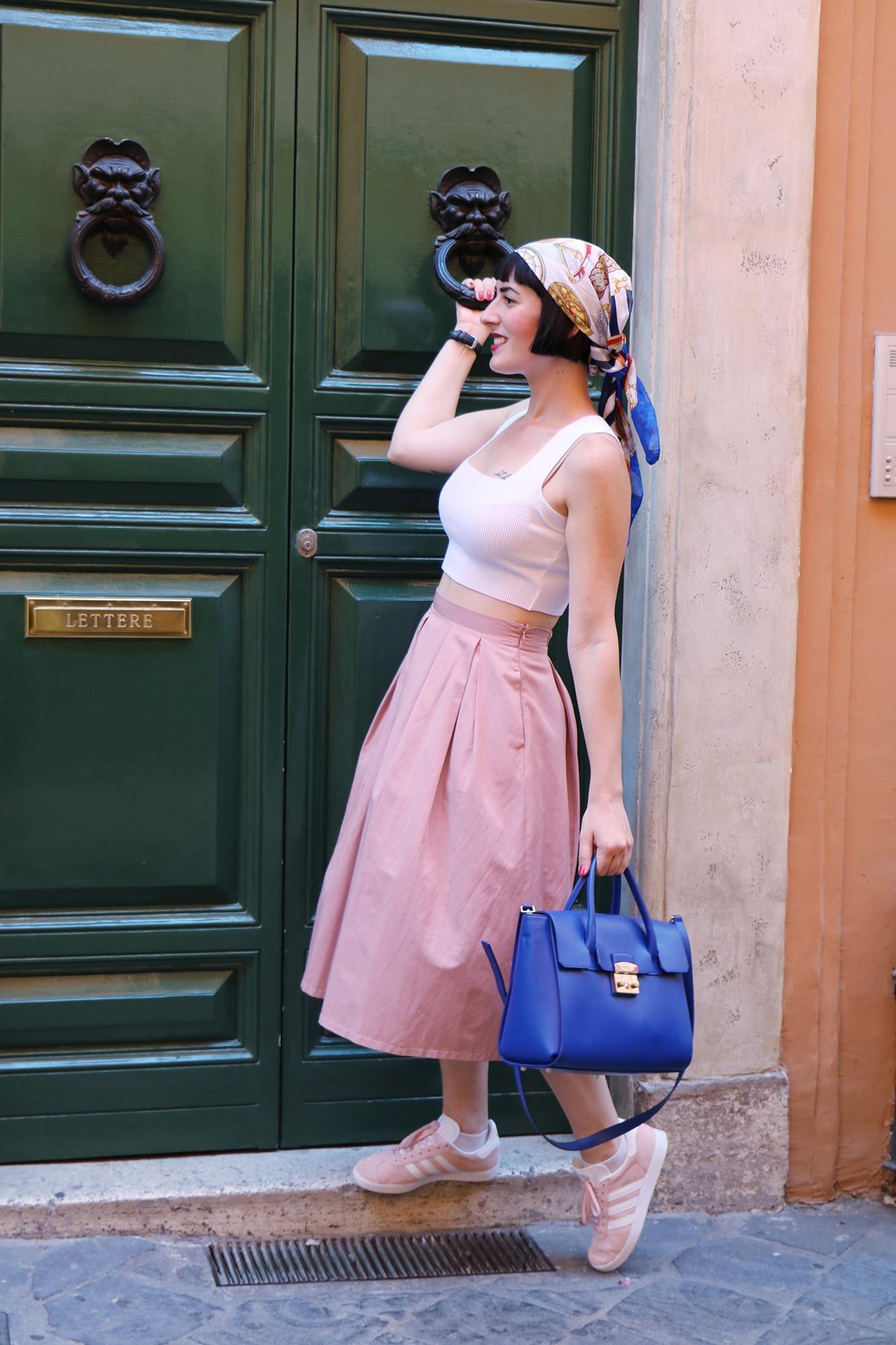 adidas gazelle rosa outfit