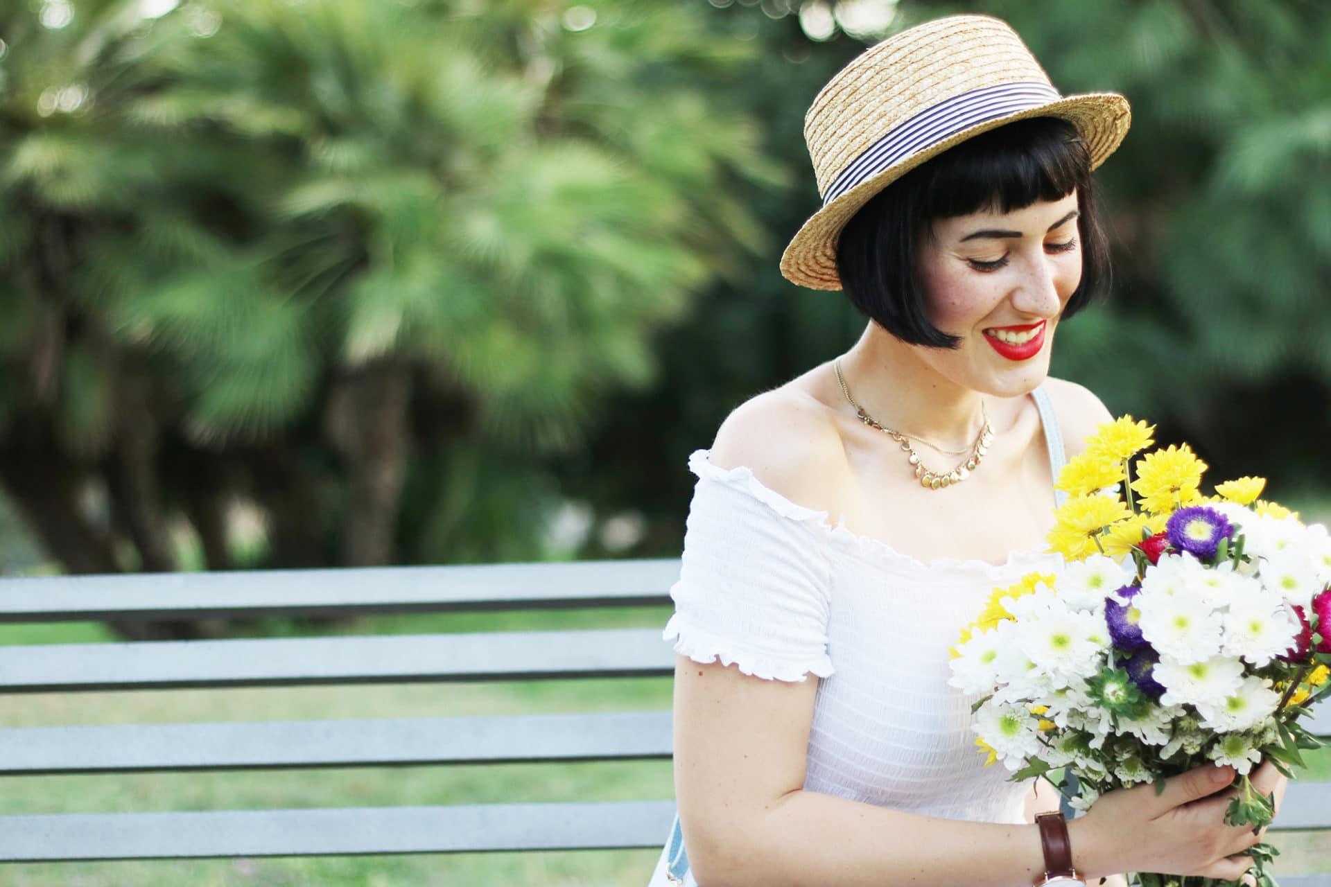 outfit romantico per il parco