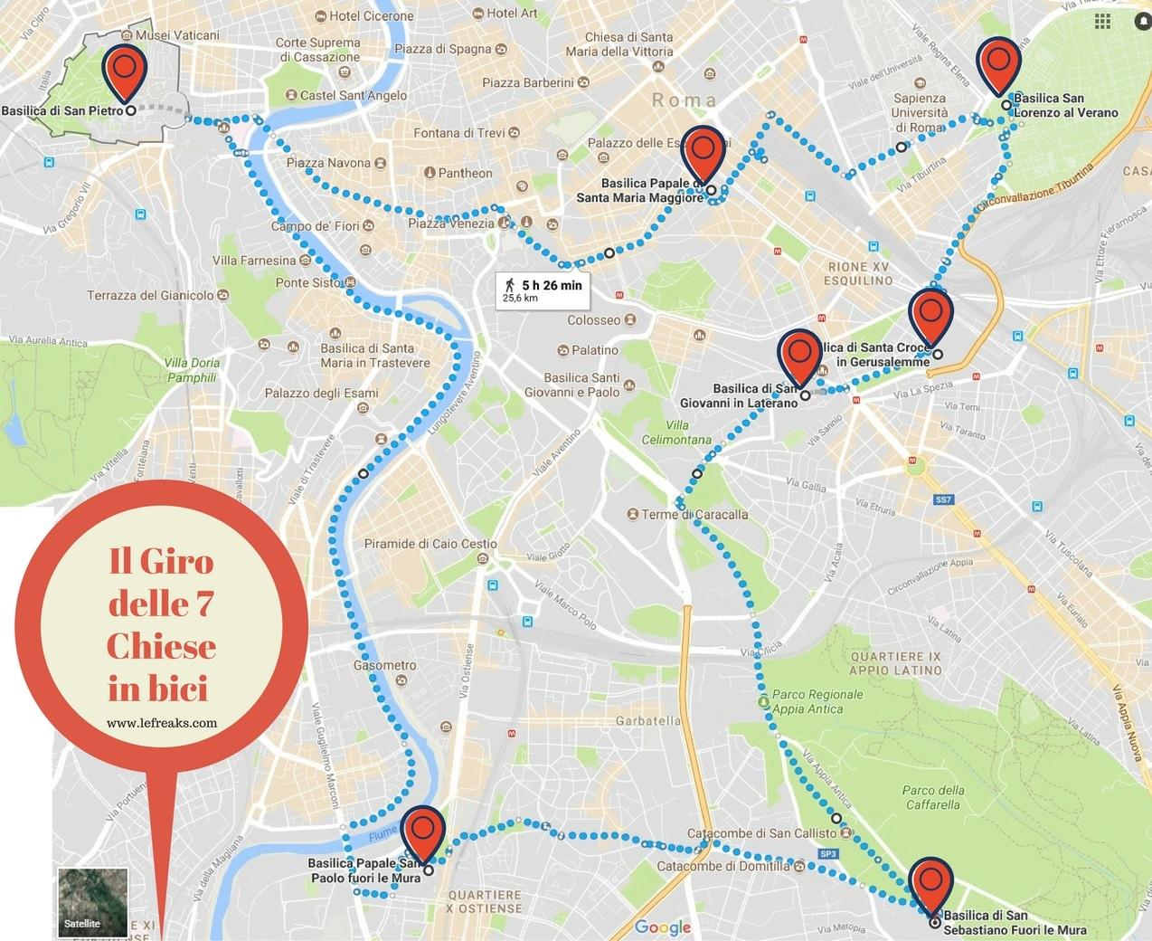 Roma in bici il giro delle 7 chiese