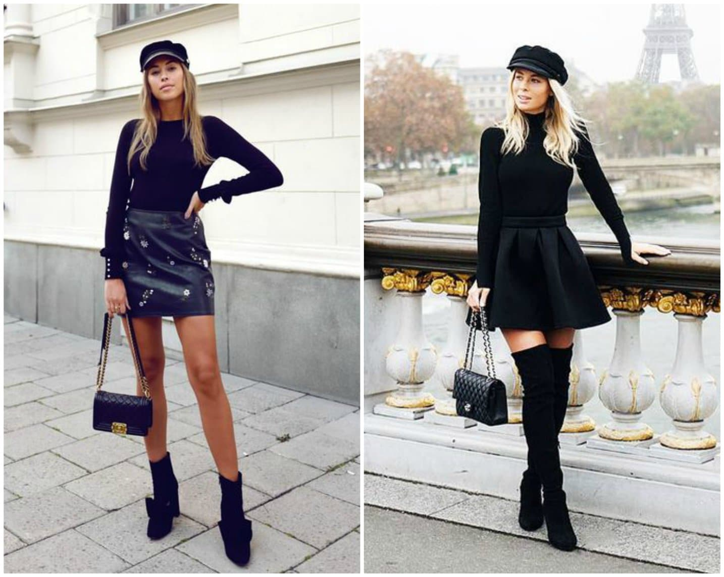 All Black Outfit With Red Shoes Female