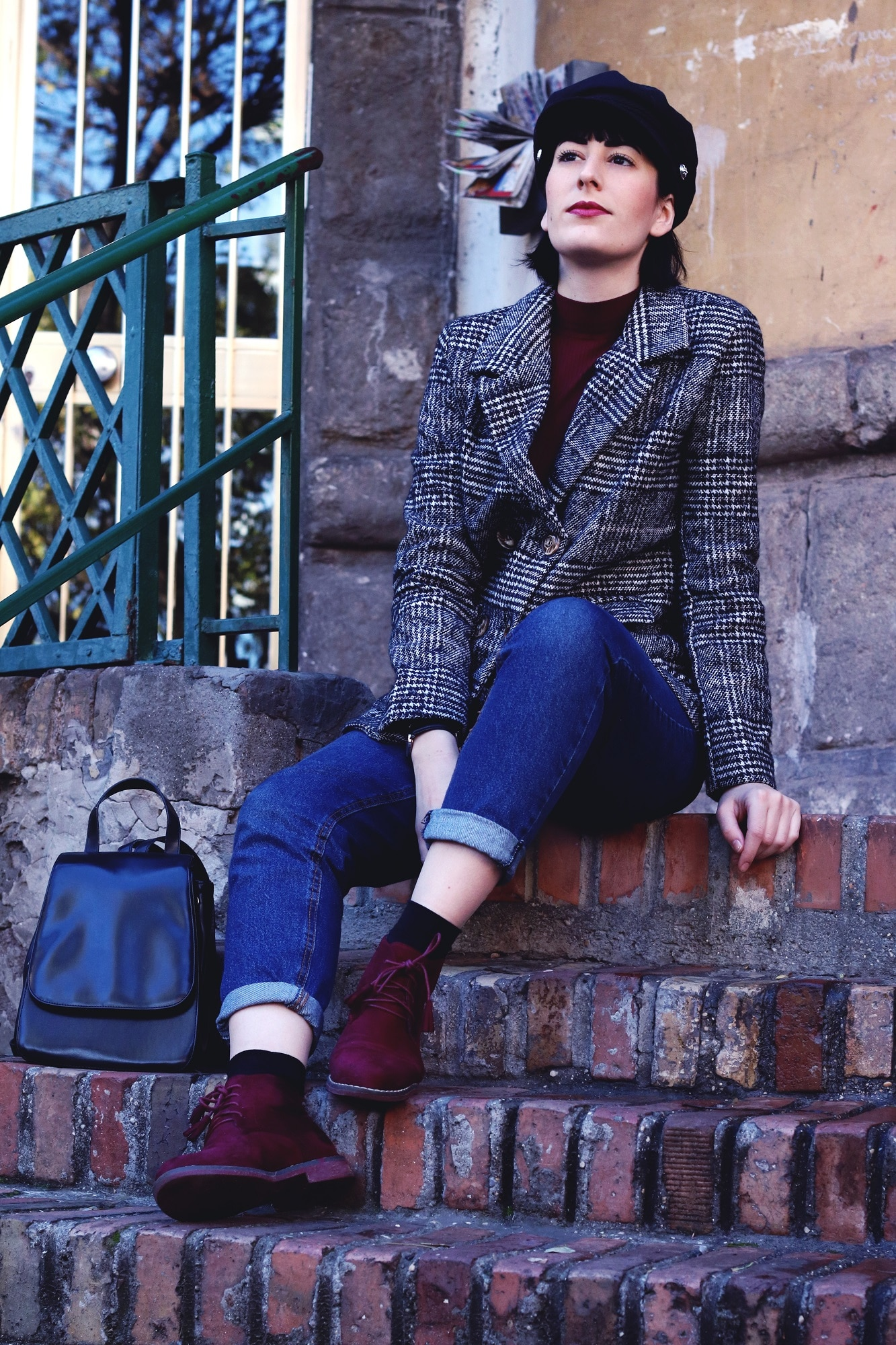 outfit maschile giacca in tweed