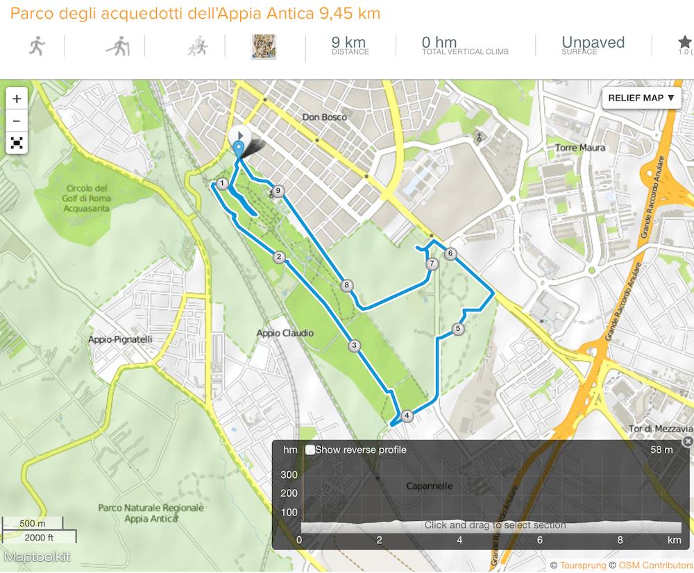 dove correre a Roma parco degli acquedotti