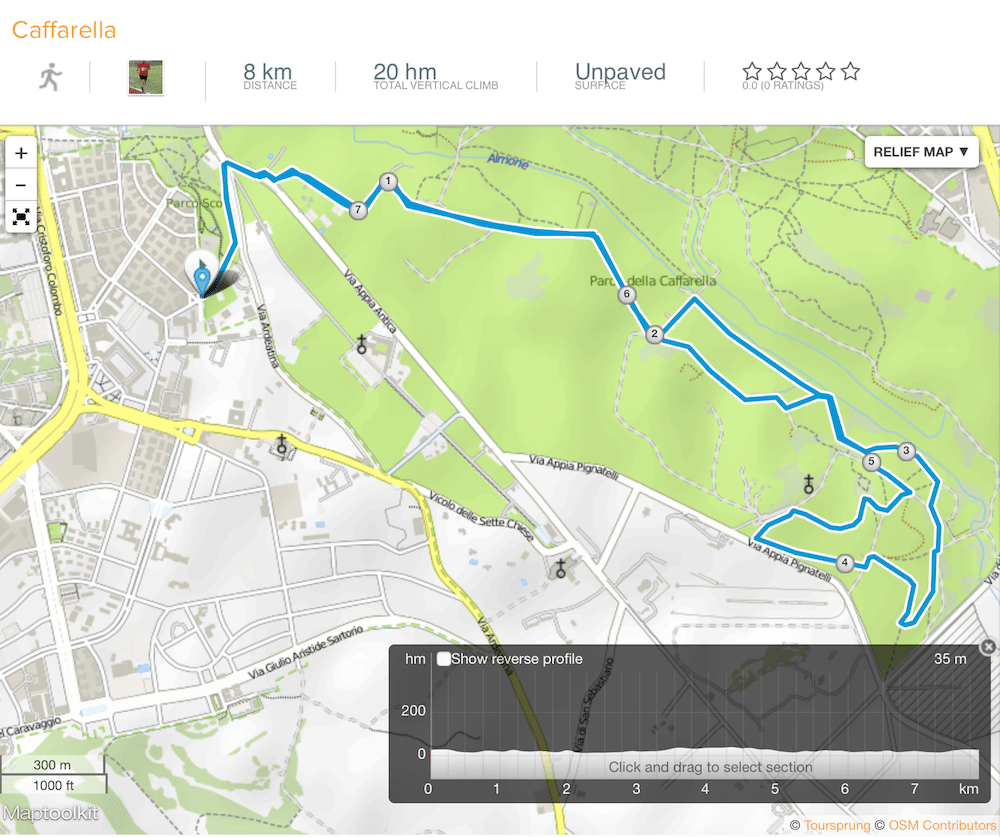 dove correre a Roma running all'aperto
