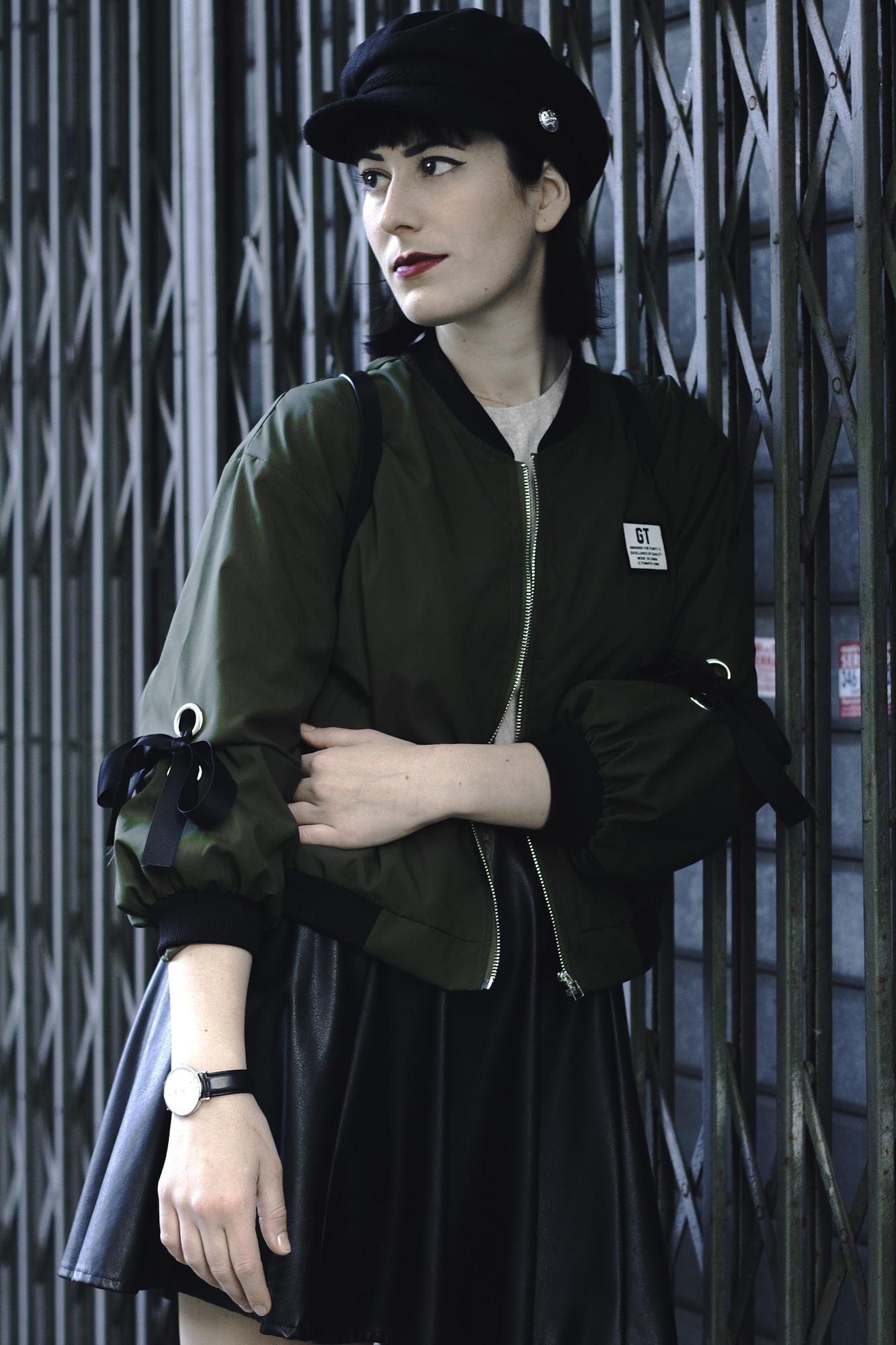 outfit con bomber primavera 2018