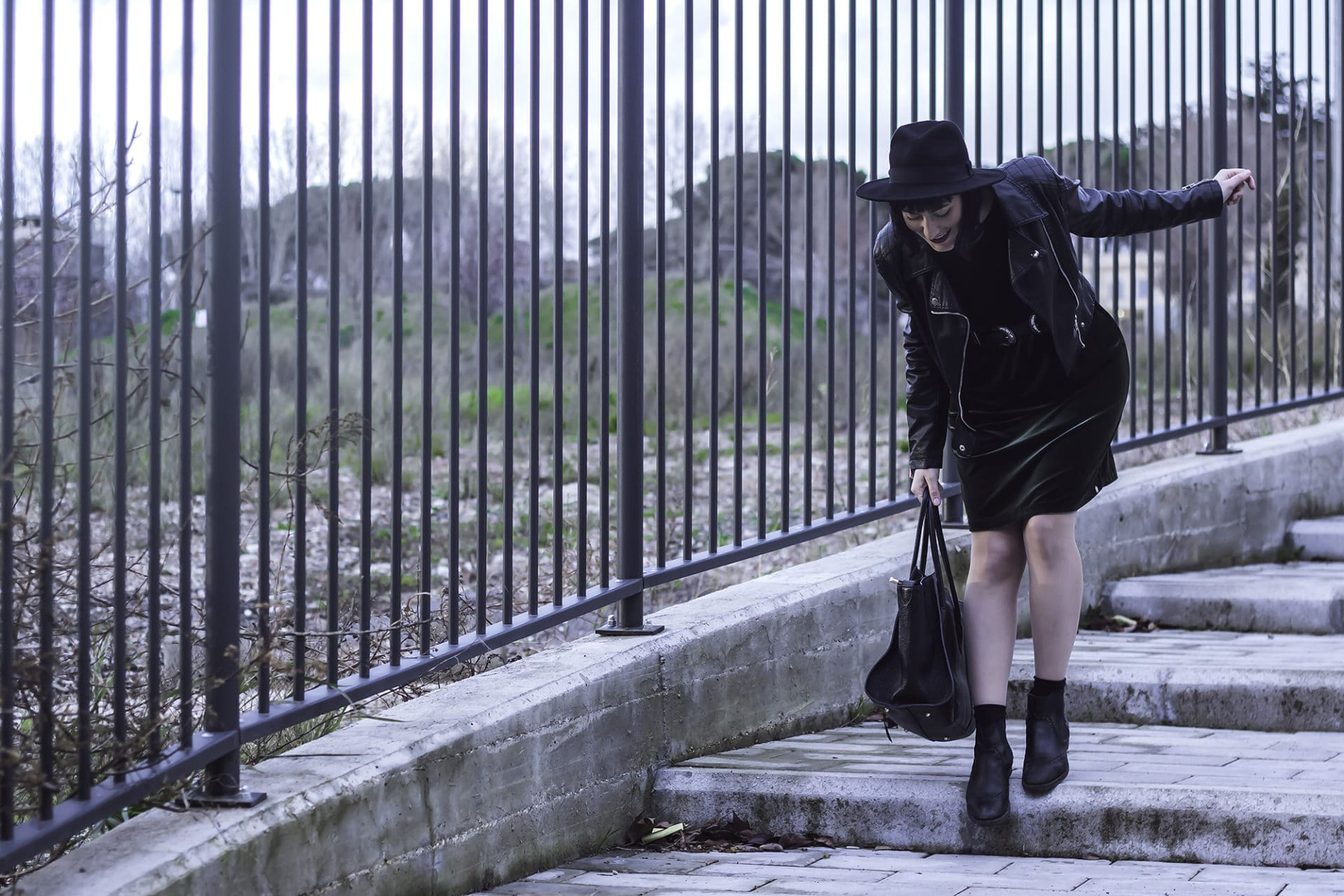 come indossare il velluto in primavera outfit abito vicario5