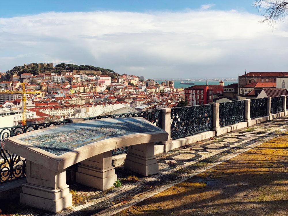 visitare Lisbona punto panoramico