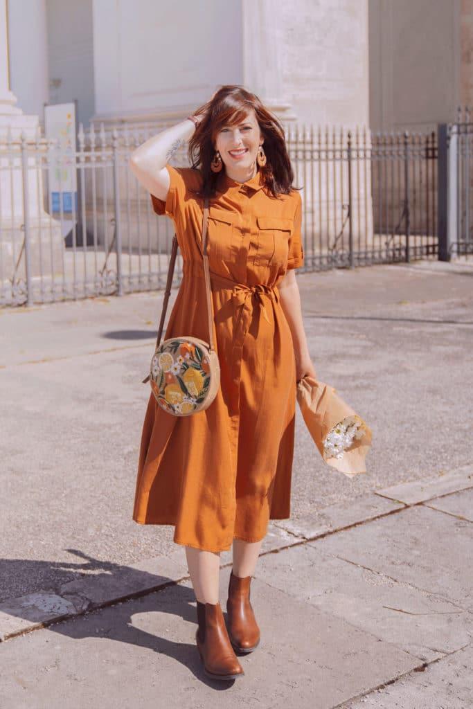 outfit abito sahariano in stile Urban Safari