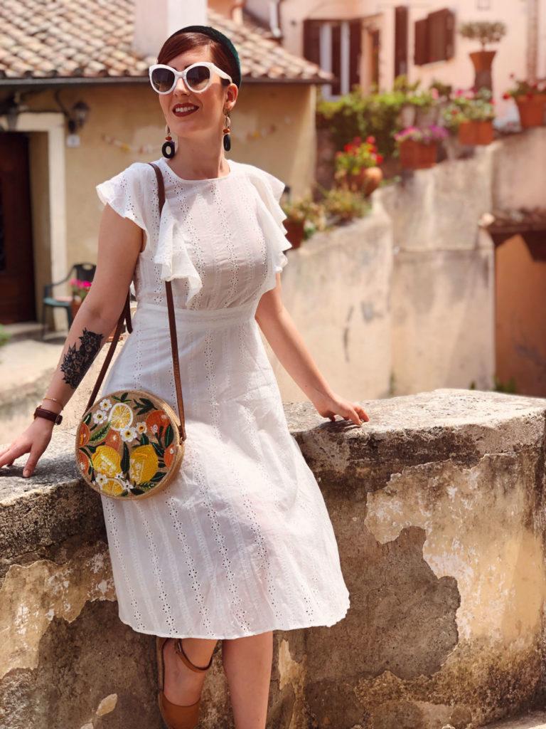 outfit estivo vestito pizzo sangallo shein