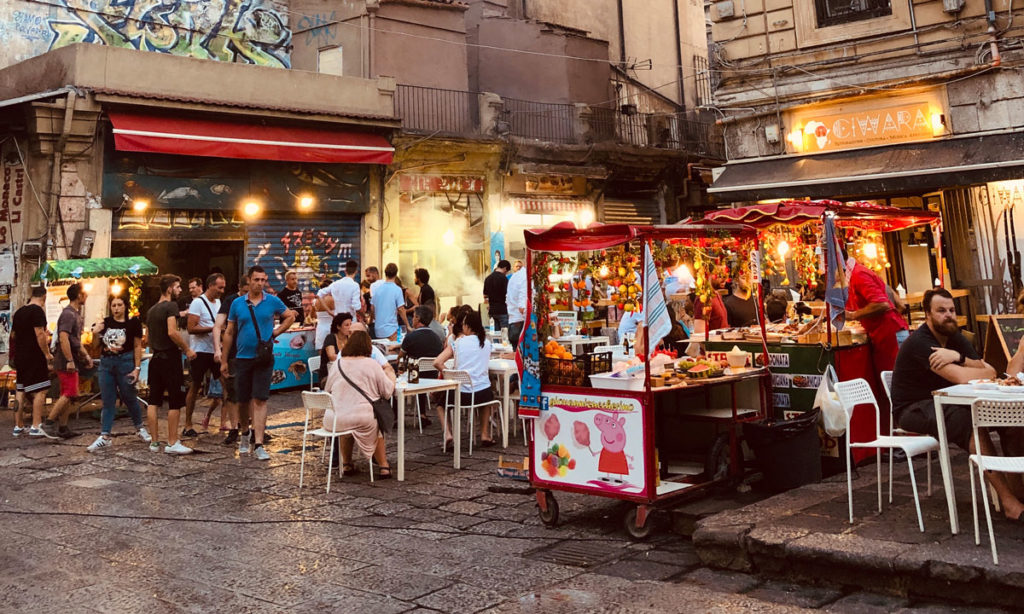 Street food Palermo mercato della Vucciria