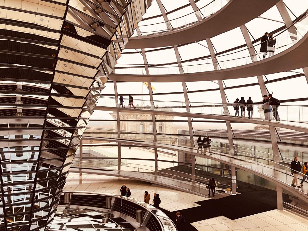 visitare Berlino  cupola del Reichstag