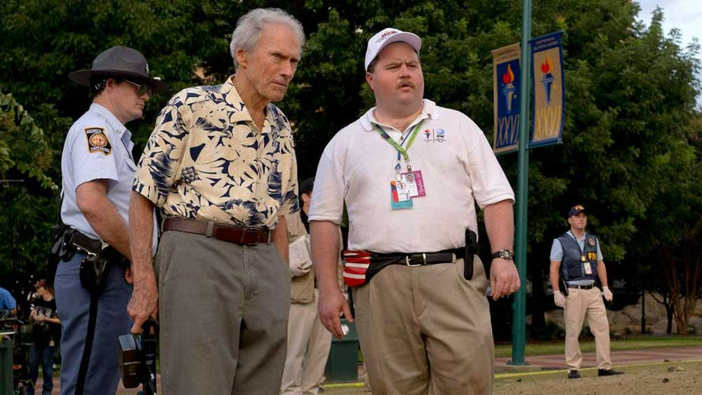 Clint Eastwood e Paul Walter Hauser sul set di Richard Jewell