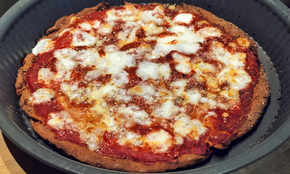 Pizza margherita senza lievito