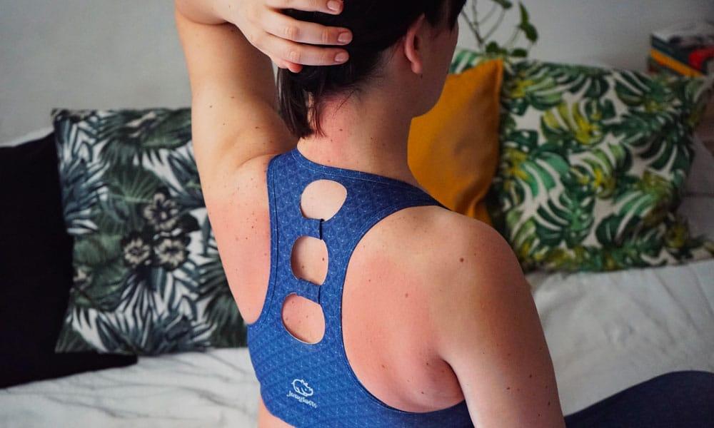 Arrossamento della pelle dovuto alla stimolazione della circolazione con il tappetino chiodato