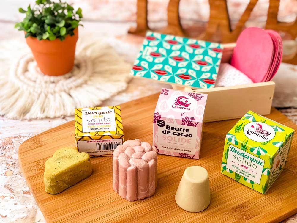 prodotti cosmetici solidi e zero-waste  lamazuna