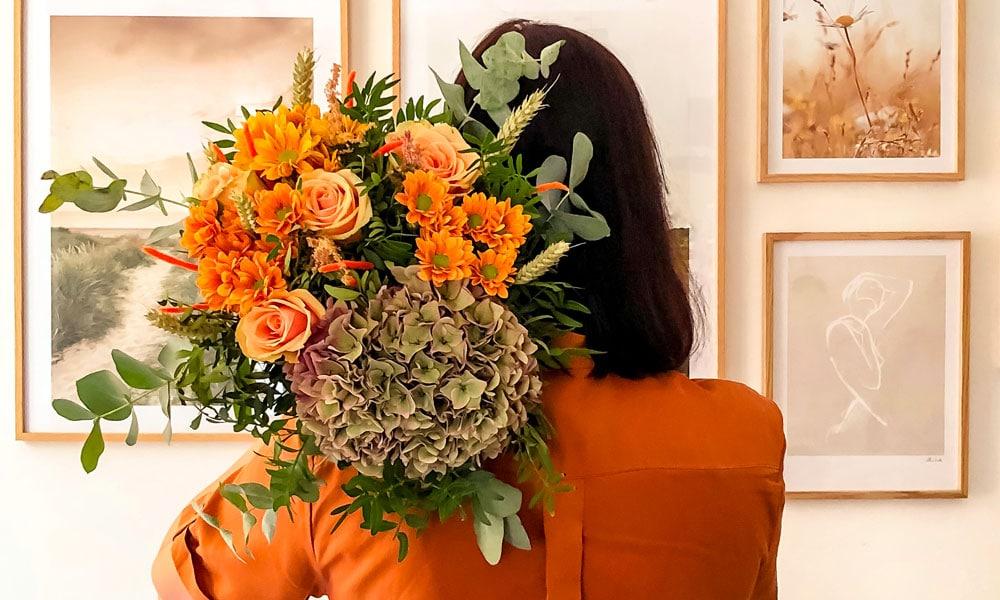 Colvin fiori bouquet autunnale con Ortensie